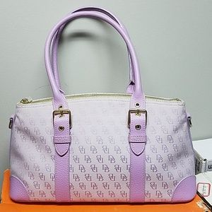 Dooney and Bourke Tote Purple Gold Violet 🚛🚀😍